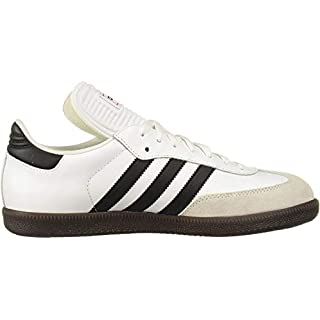 adidas Men's Samba Classic Running Shoe, white/black/white, 14 M US