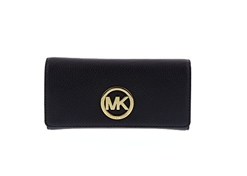 MICHAEL Michael Kors Fulton Leather Carryall Card Holder (Admiral) by MICHAEL Michael Kors