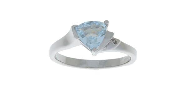 1.5 Carat Citrine & Diamond Trillion Pendant .925 Sterling Silver Fine Gemstone Necklaces & Pendants