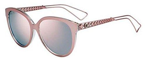 Christian Dior DIORAMA 2 pink crystal/gray rose mirror - Diorama 2 Sunglasses Dior