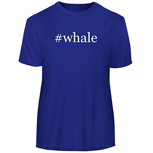 One Legging it Around #Whale - Hashtag Men's Funny Soft Adult Tee T-Shirt, Blue, Medium