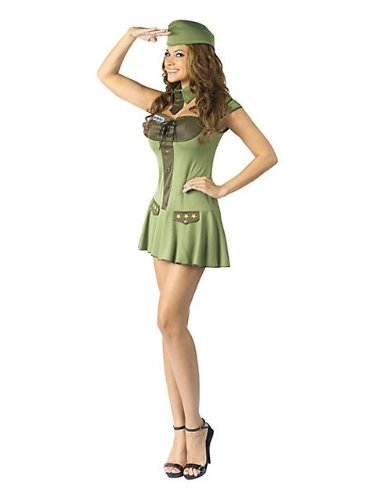 [Major Trouble Costume - Medium/Large - Dress Size 10-14] (Pin Up Girl Costume Halloween)