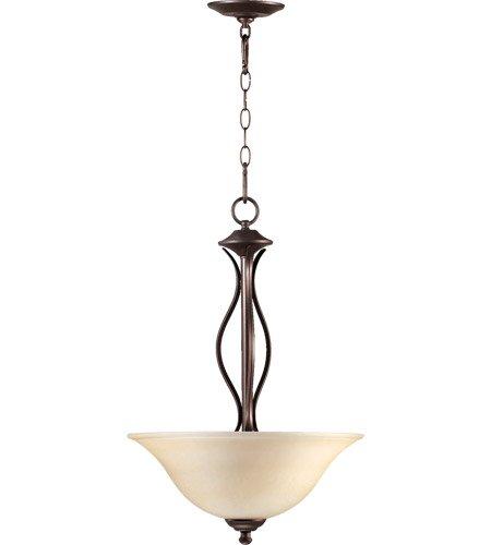 Quorum International 8110-3-86 Spencer 3 Light Pendant, Oiled Bronze ()