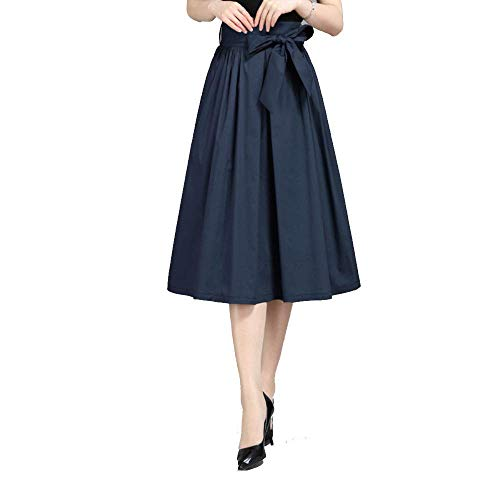 Waist Long Navy High E Blu large Oudan Navy A Dimensione Big Pleat Skirt Autumn colore X wUqHxXn1a