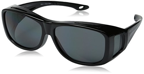 Bobster Condor 2 OTG Sunglasses, Gloss Black Frame, Anti-fog Smoked Lens, - Snowboarding Sunglass