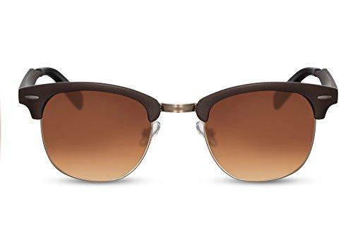 Clubmaster Cheapass Espejados Ca 0181 Hombre Retro de Marron Gafas Variación Mujer Sol 6aqcwRZt6