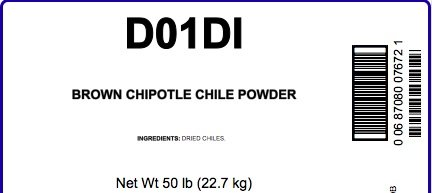 Brown Chipotle Powder, 50 LB Bag