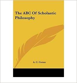 Book The ABC of Scholastic Philosophy- Common