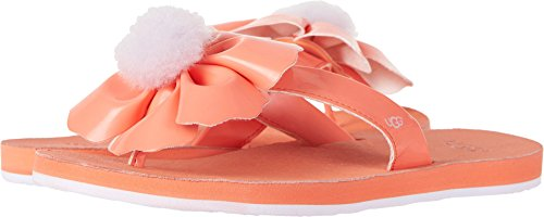 UGG Women's Poppy Flat Sandal, Fusion Coral, 7 M US (Uggs Patent Leather)