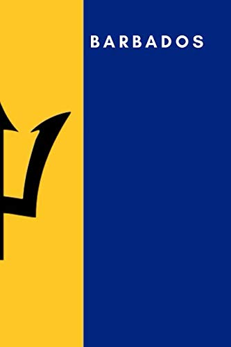 Barbados: Country Flag A5 Notebook (6 x 9 in) to write in with 120 pages White Paper Journal / Planner / Notepad