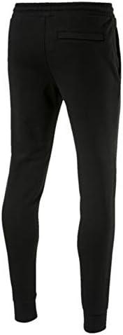 Puma Men'S Classics Emb Sweat Pants, Cotton BlackRed, S