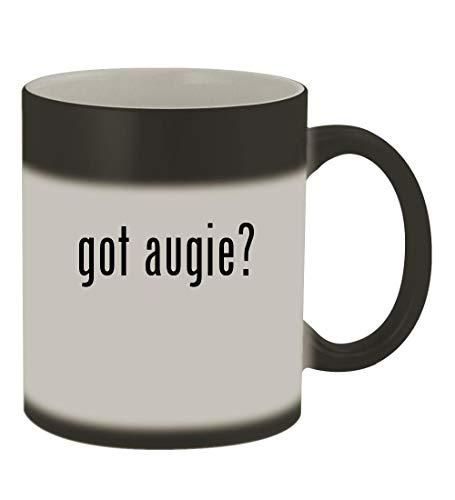 got augie? - 11oz Color Changing Sturdy Ceramic Coffee Cup Mug, Matte Black ()
