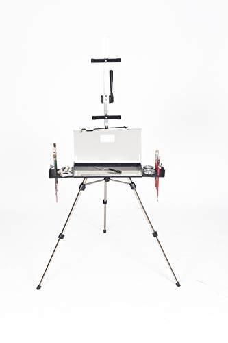 (Professional Series En Plein Air Pro Oil & Acrylic Easel Package (Tempered Glass Palette) )