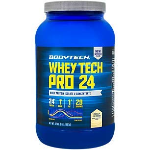 BodyTech Whey Tech Pro 24 Protein Powder Protein Enzyme Blend with BCAA