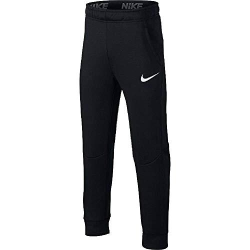 Nike Dri-FIT Big Kids' (Boys') Fleece Training Pants (Black/White, L)