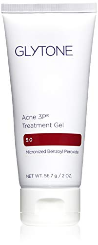 Glytone Acne 3P Treatment Gel with Time-Released 5% Benzoyl Peroxide, Hydrating Mattifying Gel, Fragrance-Free, Oil-Free, Non-Comedogenic, 2