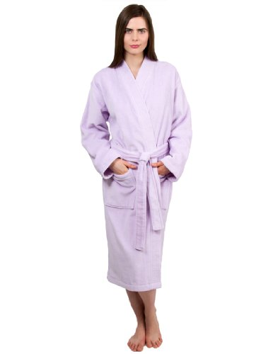 TowelSelections Women's Robe Turkish Cotton Terry Velour Bathrobe Large/X-Large Lavender ()