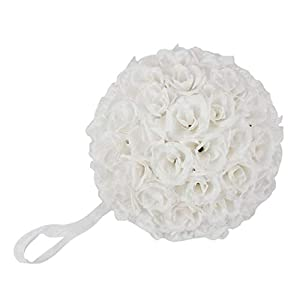 Artificial Roses Flowers Ball for Wedding Bouquets Centerpieces Arrangements Home Decorations DIY Party Baby Shower 19