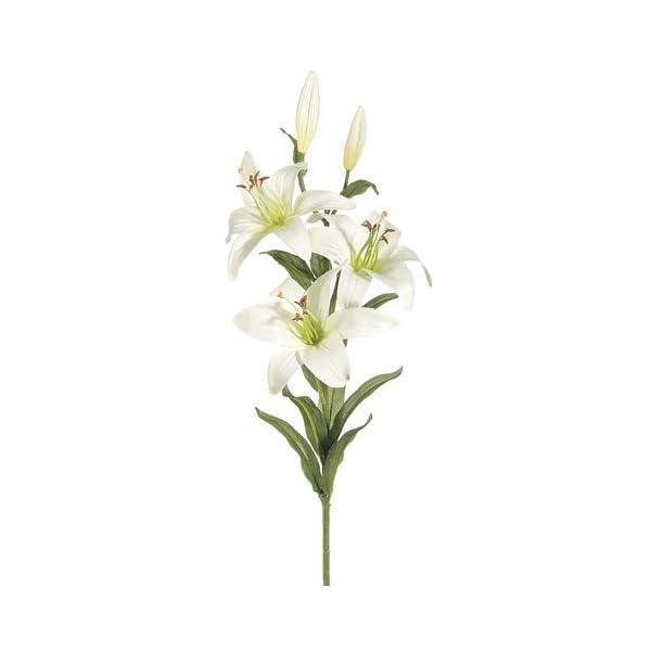 28″ Garden Lily Spray White (Pack of 12)