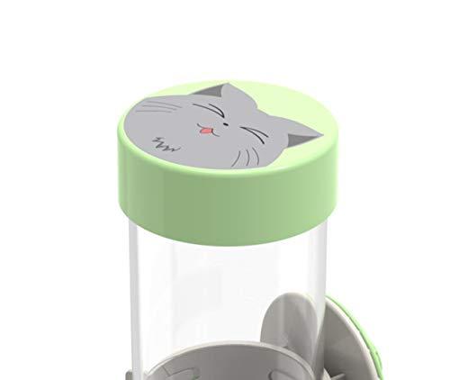 QIAOQI - Dispensador de Agua para Mascotas, 500 ML, sin Goteo, se instala en caseta o Jaula: Amazon.es: Productos para mascotas
