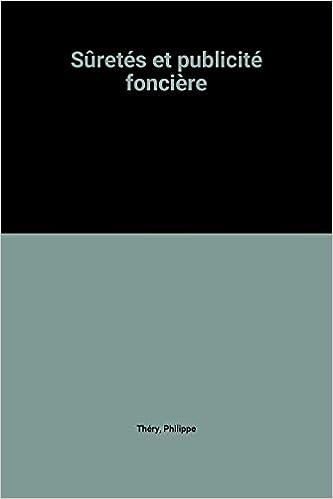 Livre Sûretés et publicité foncière pdf, epub ebook
