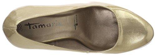 405 Beige 22426 Toe Heels 018 Black Closed Women's Black Beige Patent Metallic Tamaris vqcH7Z