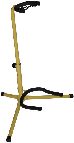 (Audio2000'S AST4331YL Electric Guitar Stand- Yellow)