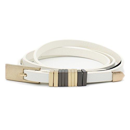 Braided Square Buckle Belt - Women's Fashion 3/8