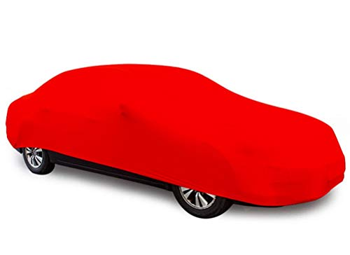 (XINGXIANYIGOU Car Surface Protective Cover Elastic car Cover Suitable for Bentley Flying Spur dust-Proof car Cover Customizable car Cloth/Configuration Logo (Color : Red))