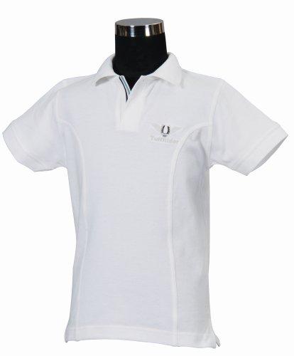 TuffRider Girl's Polo Shirt, White, Small