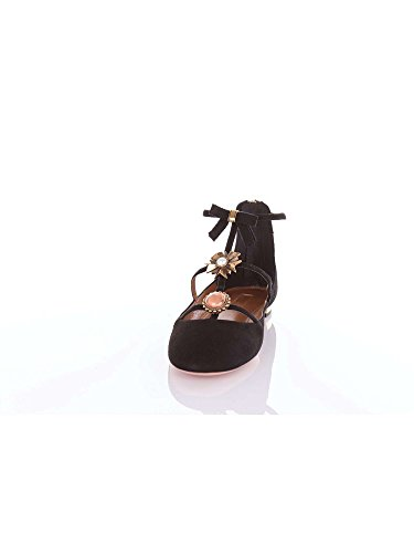 Aquazzura Panflaa0 Ballerinas Kvinder Sort jhaD3RR12