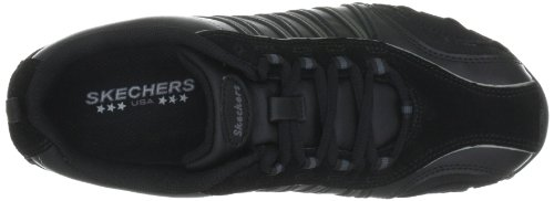 Skechers Dames Bikers-troopers Lace-up Fashion Dames Sneaker Zwart