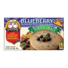 De Wafflebakkers Blueberry All Natural Whole Grain Pancake, 8.4 Ounce -- 12 per case. Blended Waffle Mix