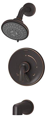 Symmons S-5502-SBZ-TRM Elm 1-Handle 3-Spray Tub and Shower Faucet Trim, Seasoned Bronze