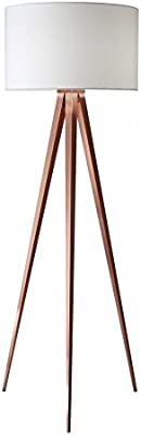 Adesso 3227 15 Brooklyn Floor Lamp Contemporary Tripod Lamp Smart Outlet Compatible 63 In