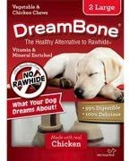 Dream Bone Vegetable Chicken Chews, 2 Large, Rawhide-Free, Made with Real Chicken