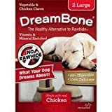 Dream Bone Vegetable & Chicken Chews, 2 Large, Rawhide-Free, Made with Real Chicken For Sale