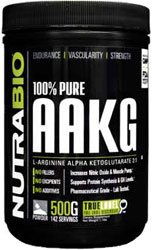 NutraBio 100% Pure AAKG (L-Arginine Alpha Ketoglutarate) - 500 Grams - Nitric Oxide Booster.