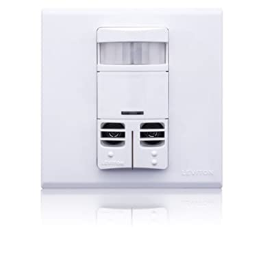 Leviton 3 by 3, Title 24 Compliant, Ambient Light Override, Self Adjusting, Multi-Tech Wall Occupancy Sensor
