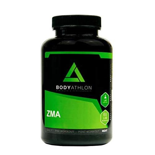 Bodyathlon- ZMA- Potenciador con Zinc Magnesio y Vitamina B6– Suplemento para Rendimiento- Recuperador Muscular- Aumento de Energía e Impulso- Evita el catabolismo- Testosterone Booster - 90 cápsulas a buen precio