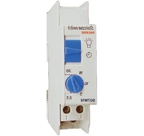 Reloj de escalera 30 segundos-20 minutos Blanco, Cablepelado®: Amazon.es: Bricolaje y herramientas