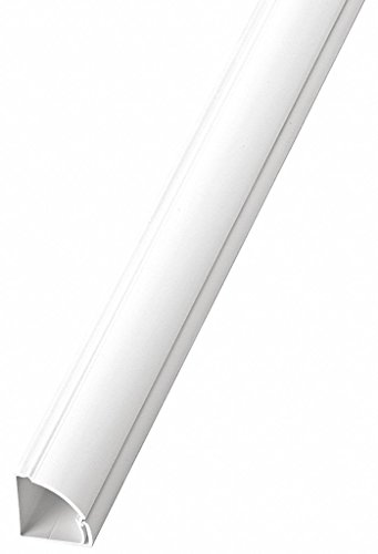 6 ft. 6 in. Quarter Round Series Raceway, PVC, White, Cover Type: Latching