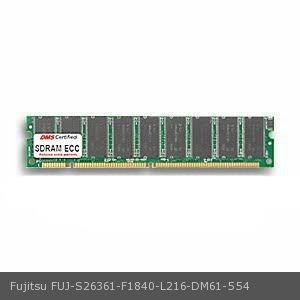 Fujitsu S26361-F1840-L216 equivalent 256MB DMS Certified Memory PC100 32X72-8 ECC 168 Pin SDRAM DIMM 18 Chip (16X8) - DMS 256mb Pc100 Ecc Dimm Memory