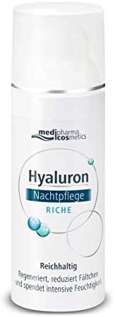 Medipharma Cosmetics Rich Night Care Cream - Contains Duo-Hyaluronic Complex - Non-Greasy & Quick Absorbent - Anti-Wrinkle Cream for Sensitive, Dry and Very Dry Skin - 50 ml