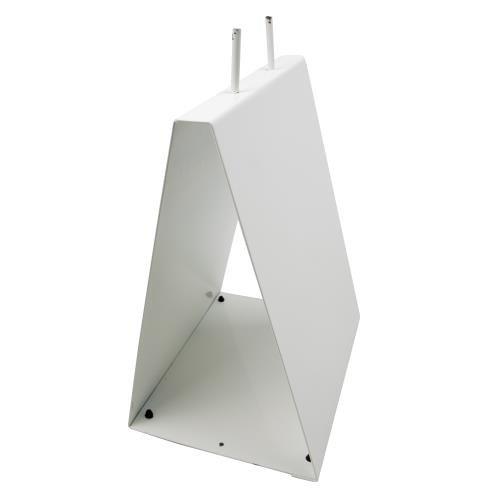 Elkay Plastics DPSTAND Metal Saddle Pack Stand, White