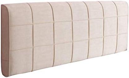 ソフトレストソフトベッド、無垢材のベッドカバーダブル枕ホルダー寝室の読書枕休息するために腰に多機能洗える4色、5サイズ(色:ベージュ、サイズ:200 * 58cm)