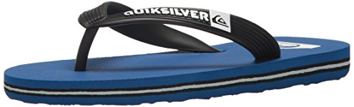 Quiksilver Boys' Molokai Youth Sandal, Black/Blue/Black, 4(36) M US Big Kid