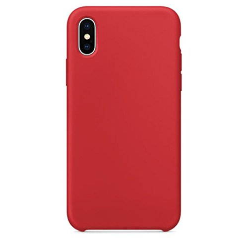 Livoty For iPhone X Case New Official Soft Silicone Case Cover For IPhone X Boxed (Red)