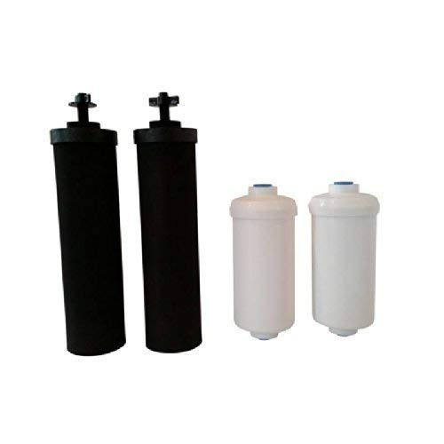 Black Berkey Replacement Filters & Fluoride Filters Combo Pack - Includes 2 Black Filters and 2 Fluoride Filters by Berkey (Image #4)