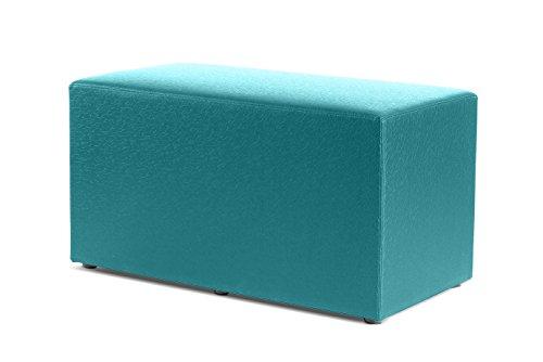 Logic Furniture CUBOIDXTL18 Cuboid Ottoman, Teal by Logic Furniture